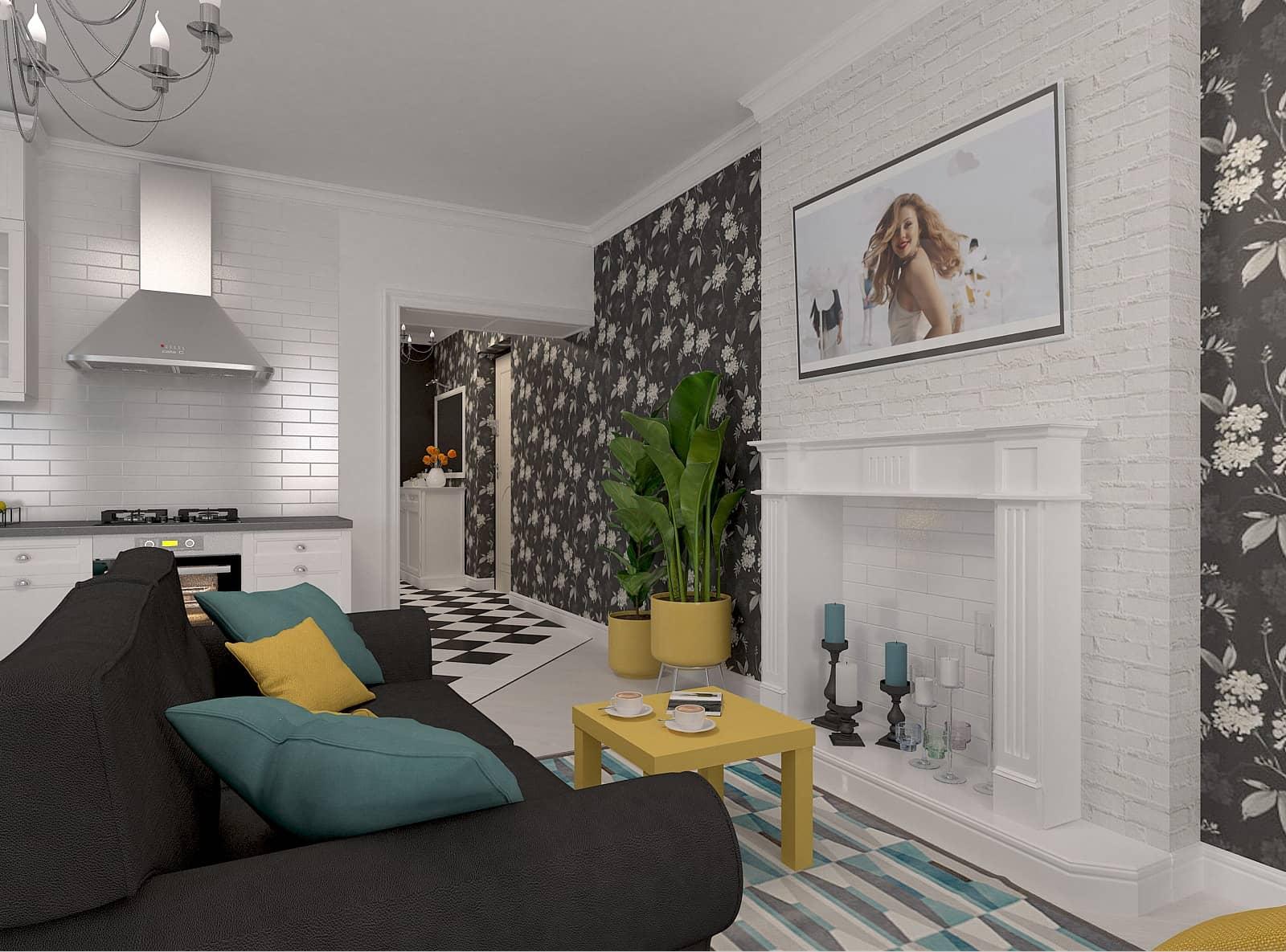 Дизайн вітальні: фото 1