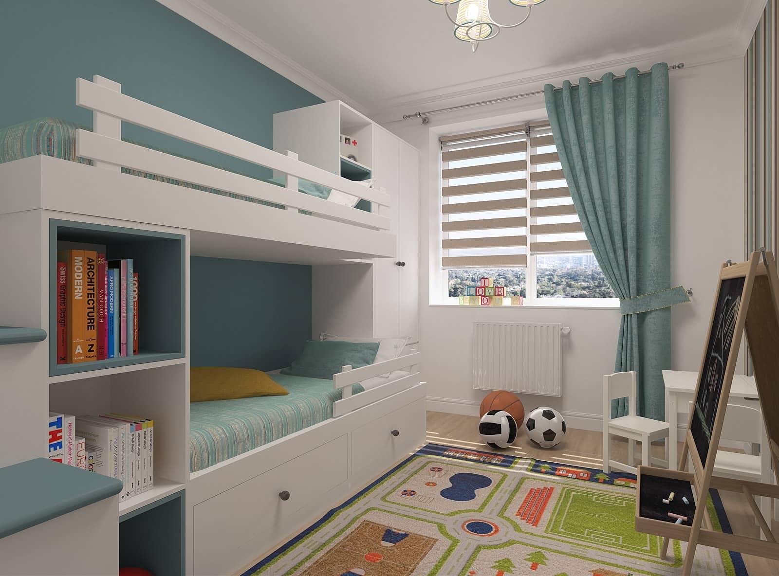 Дизайн дитячої кімнати: 3д-візуалізація 3