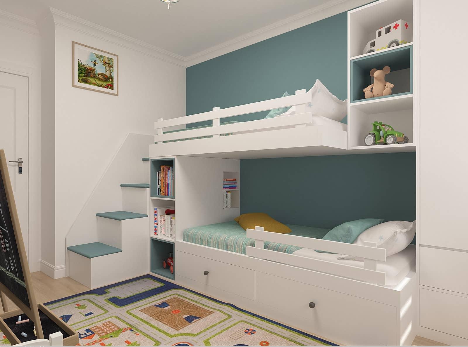 Дизайн дитячої кімнати: 3д-візуалізація 2