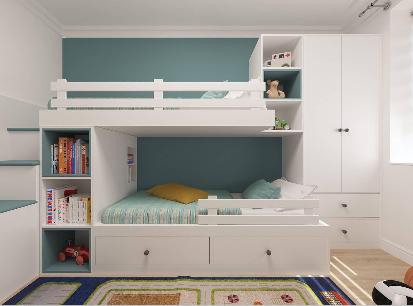 Дизайн дитячої кімнати: 3д візуалізація 1