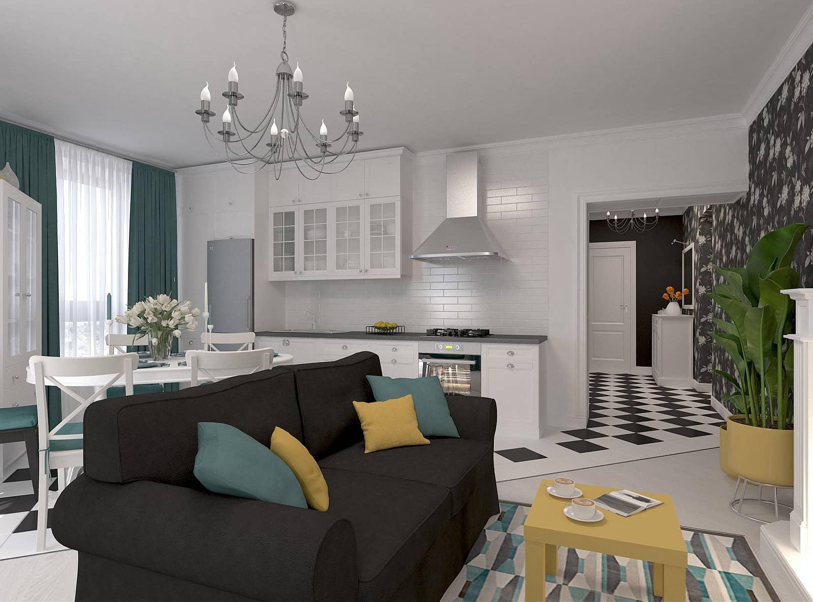 Дизайн квартири-студії: фото 2.1