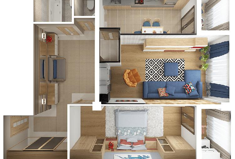 3д-візуалізація квартири, Івано-Франківськ